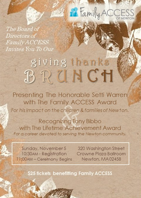 Giving Thanks Brunch Invitation