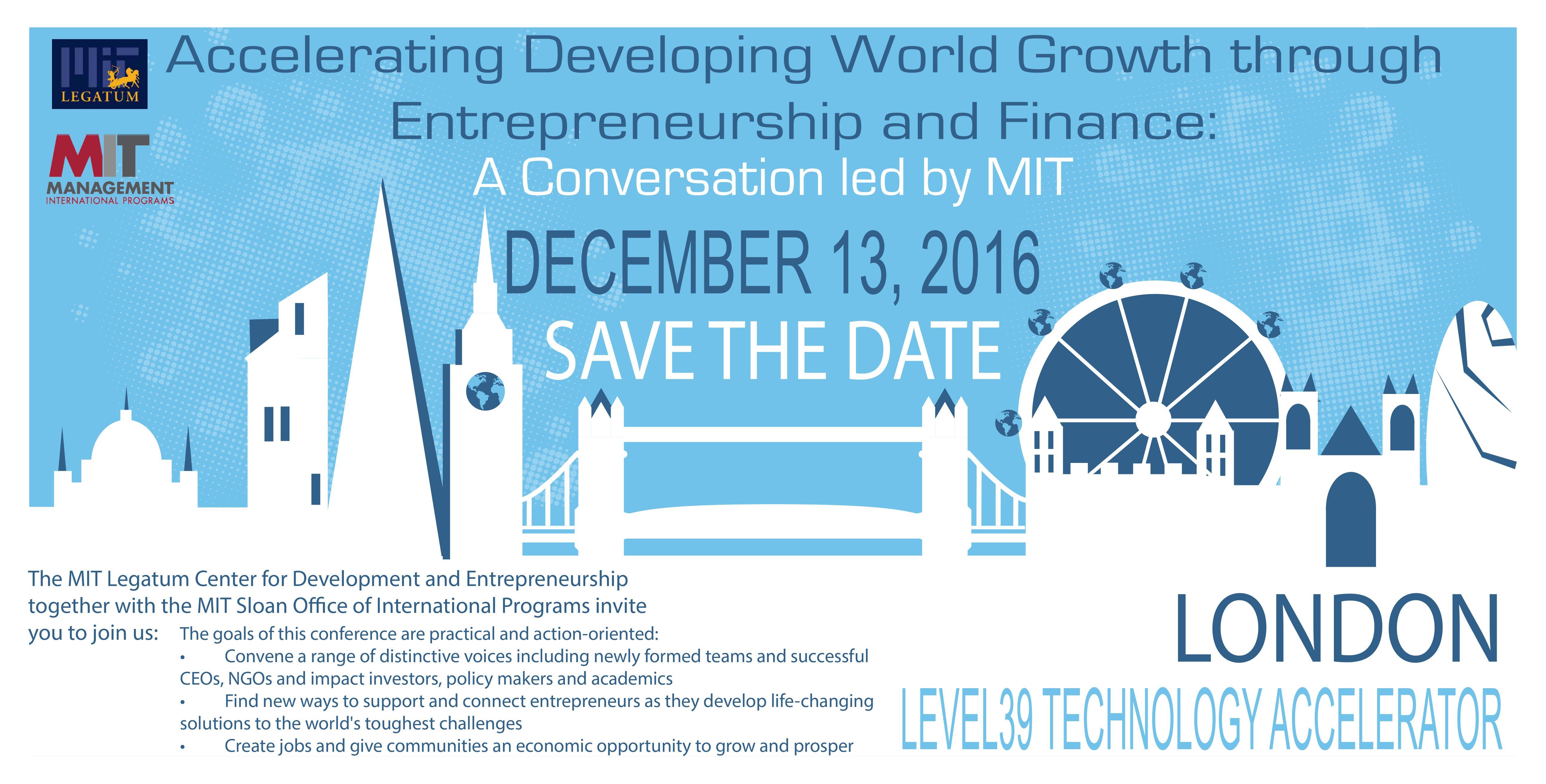Accelerating Developing World through Entrepreneurship and Finance