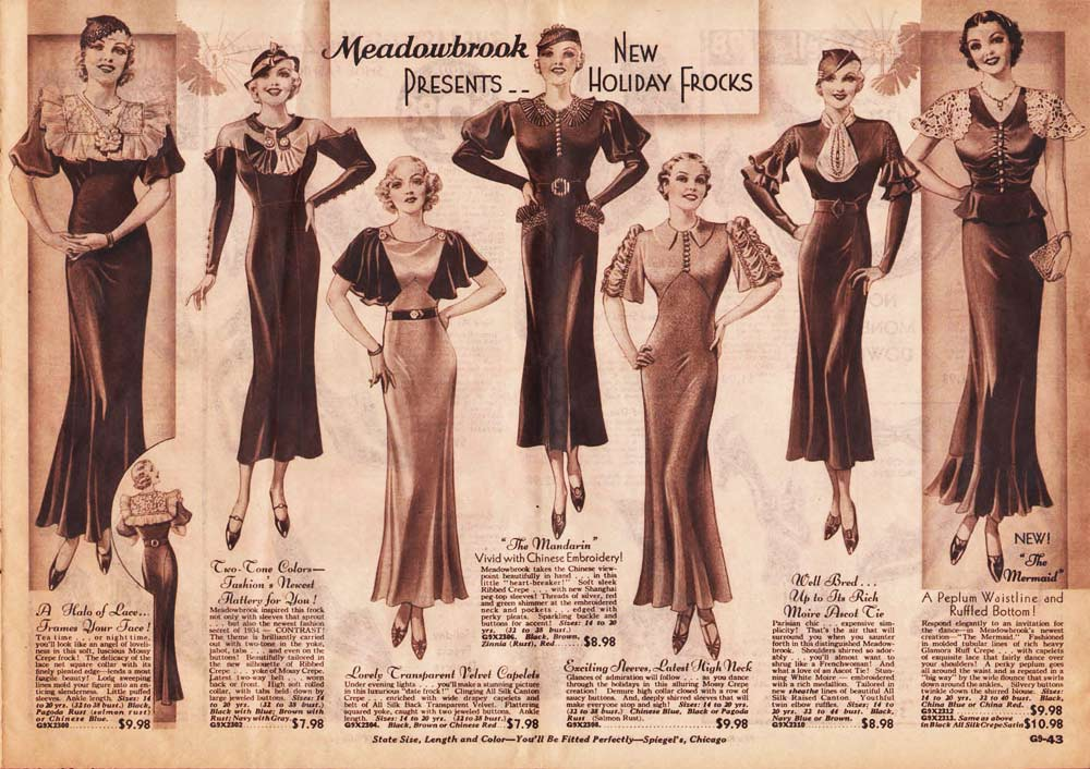 Womens 30s fashion