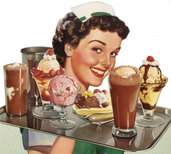 Retro Ice Cream Lady