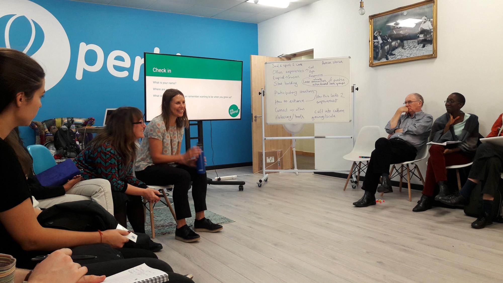 Kate giving workshop