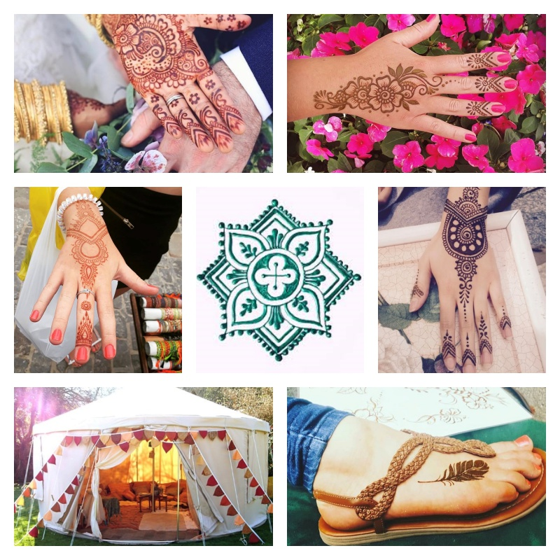 boho ball henna