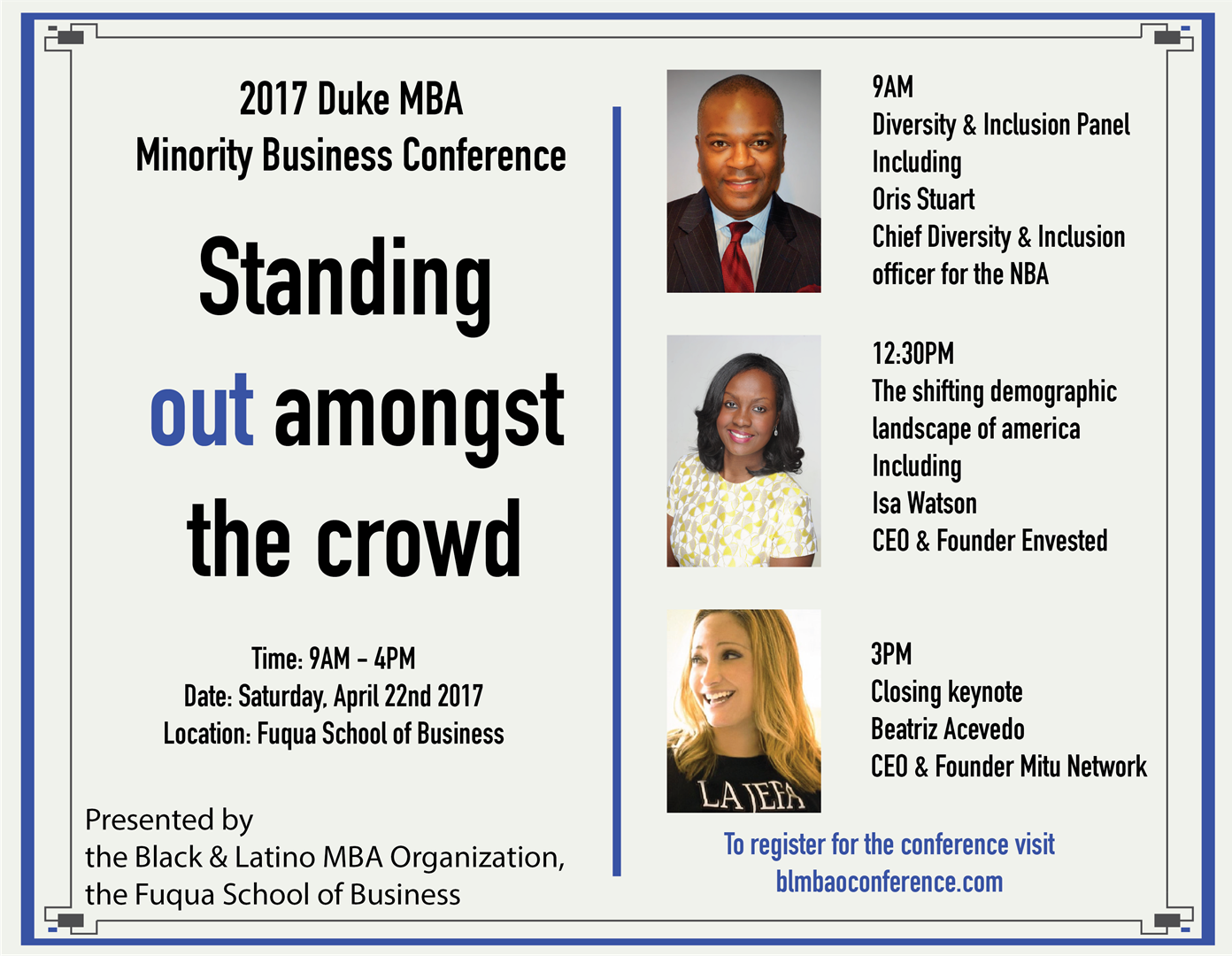 Minority Business Conference Flyer