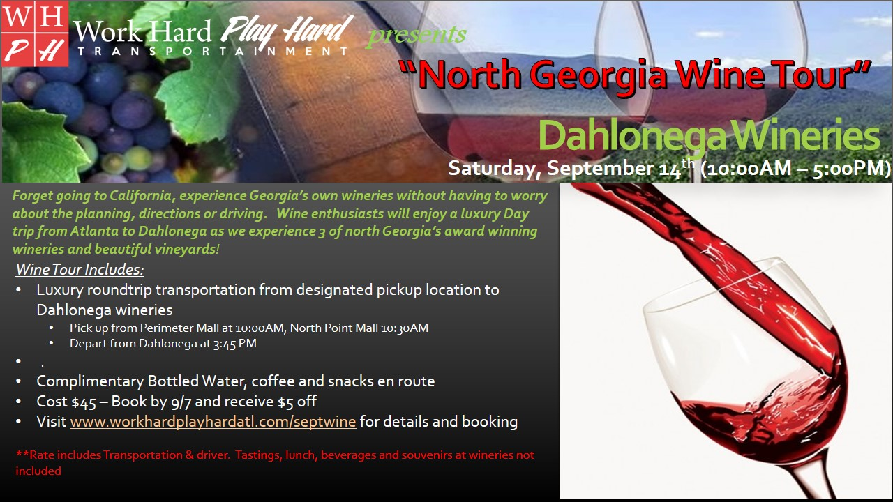 North Georgia Wine Tour Flyer