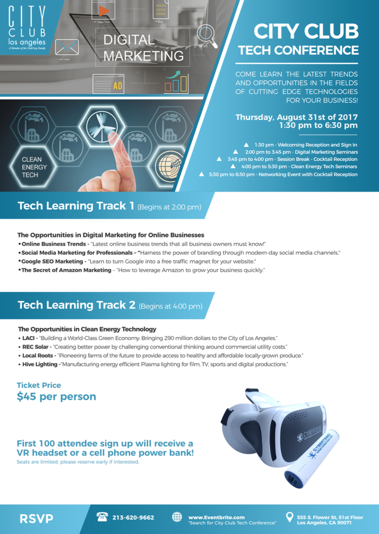 City Club Tech Conference Flyer 08252017
