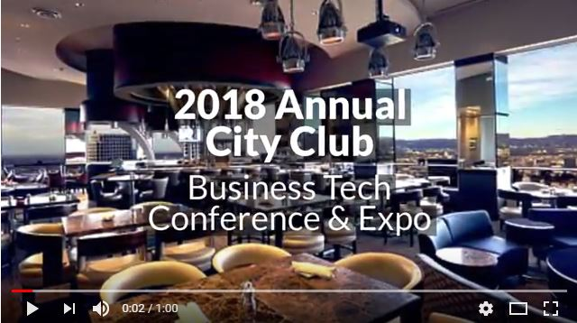 City Club Business Tech Conference 2018 Intro Video