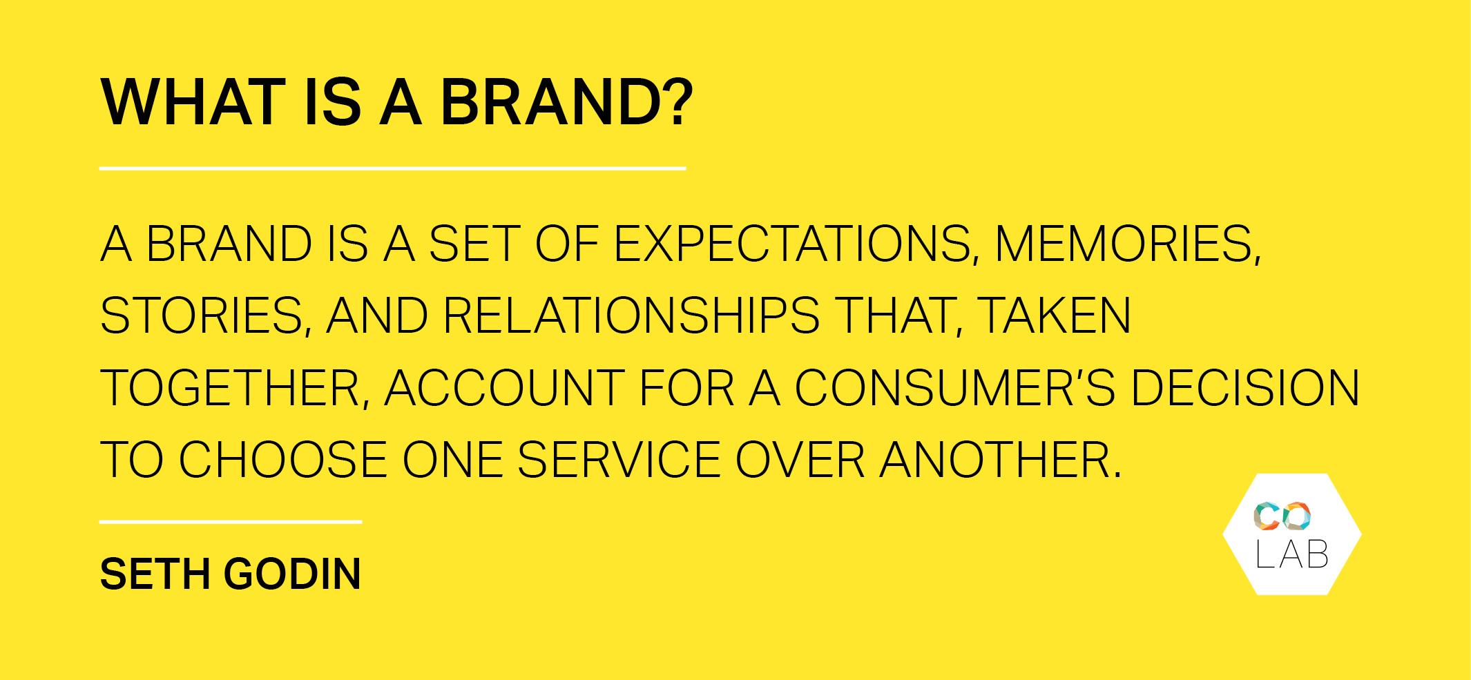 Seth Godin's quote on branding