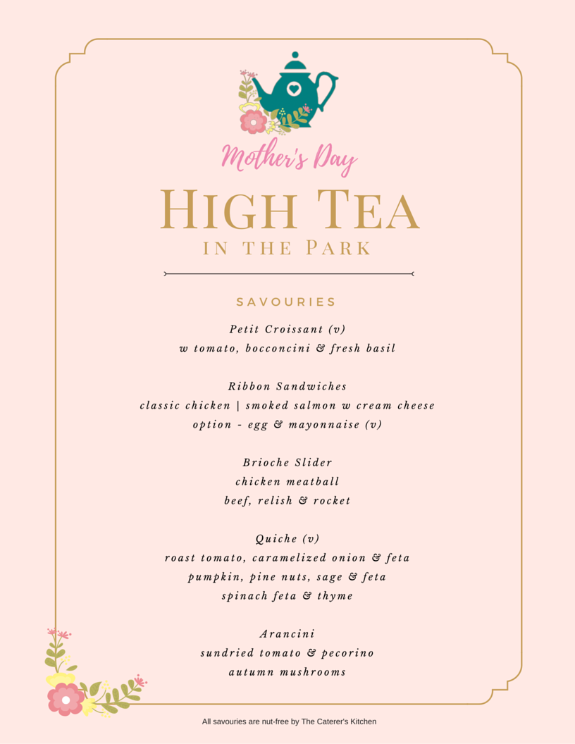 Mother's Day High Tea in the Park Tickets, Sun, 08/05/2016 at 10:00 am
