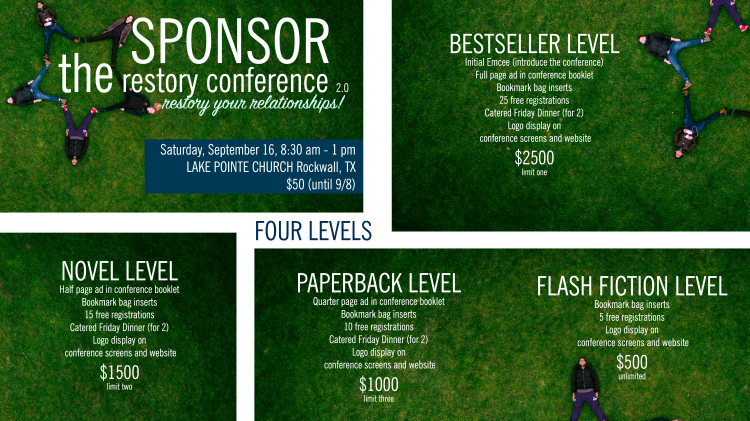 sponsor the restory conference