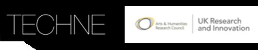 TECHNE logo, AHRC logo