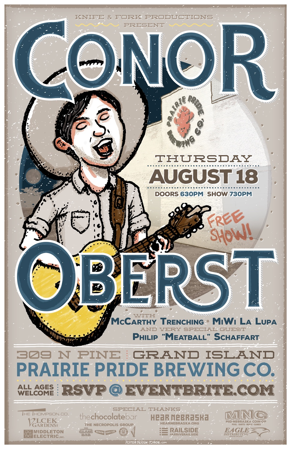 Conor Oberst Live in Grand Island Poster
