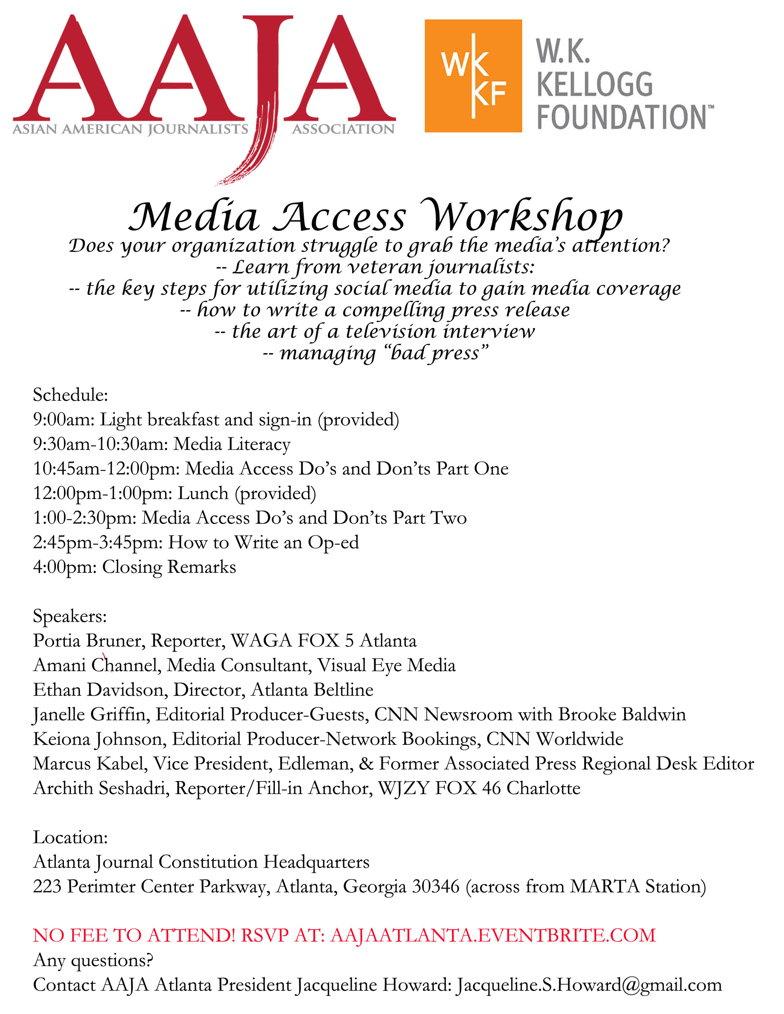 AAJA Media Access Workshop