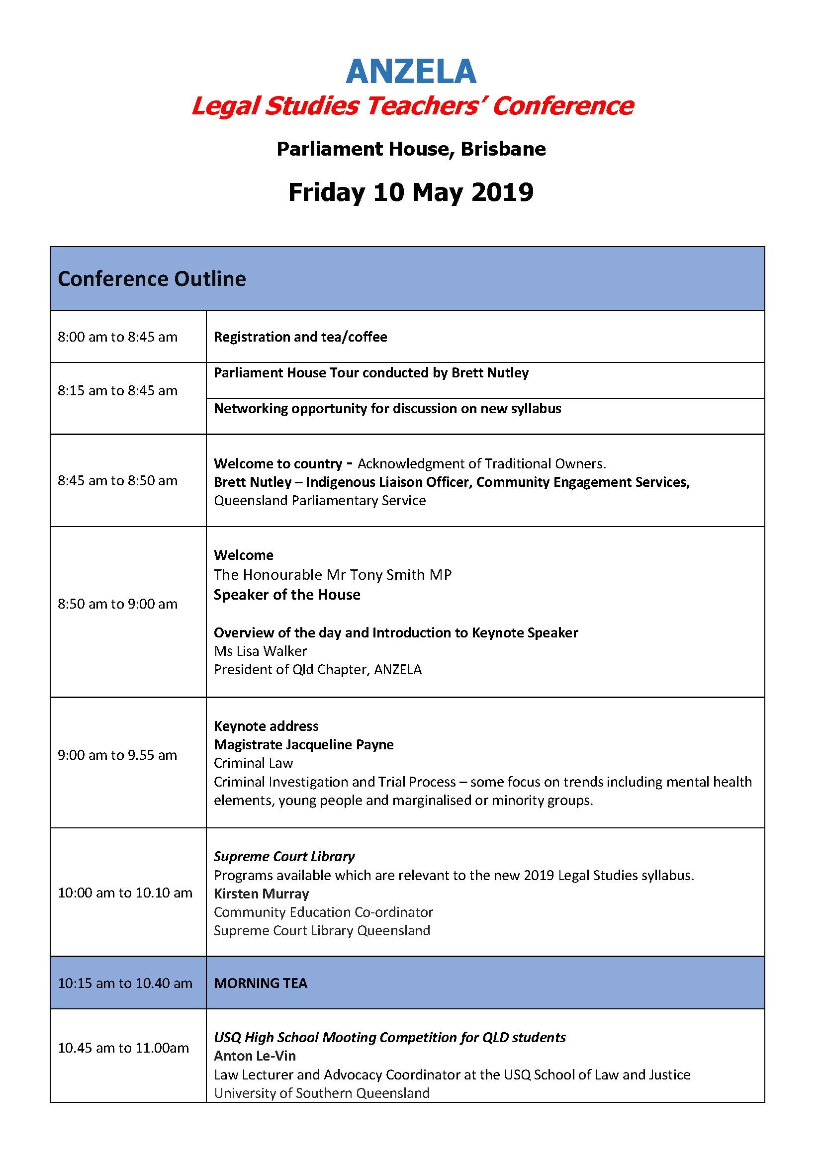 Conference Agenda Page 1