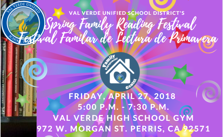 Val Verde Unified School District's Spring Family Reading Festival