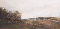 Alex McIntyre, Hill Promise, Ink and gesso, 122 x 56cm