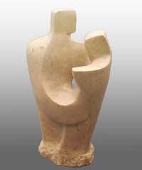 John Brown, Adieu ll, Ancaster Stone, Height 38cm