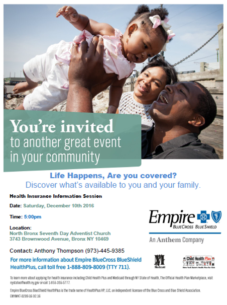 Empire Health Insurance Information Session
