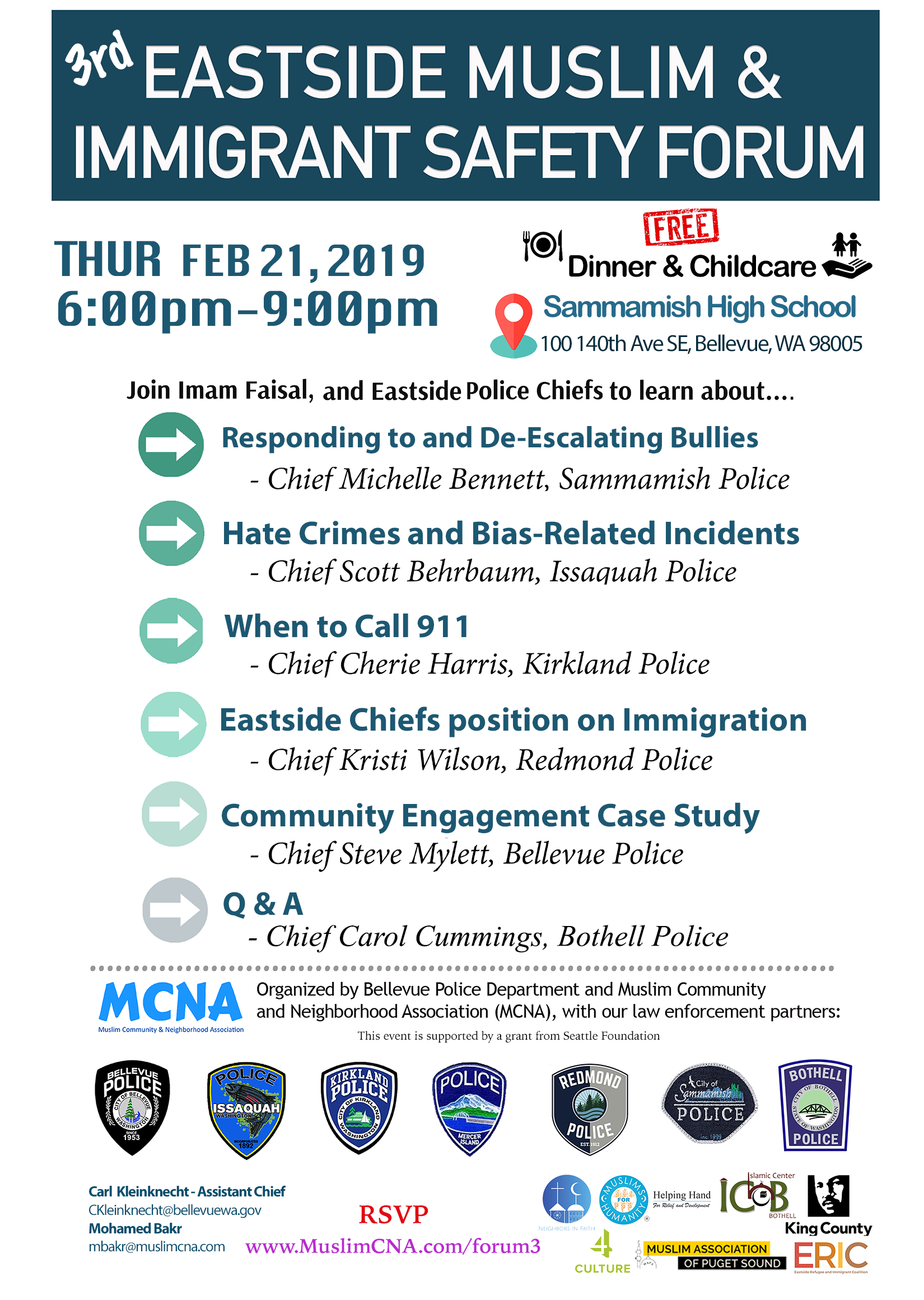 MCNA Eastside Immigrant and Safety Forum 2019