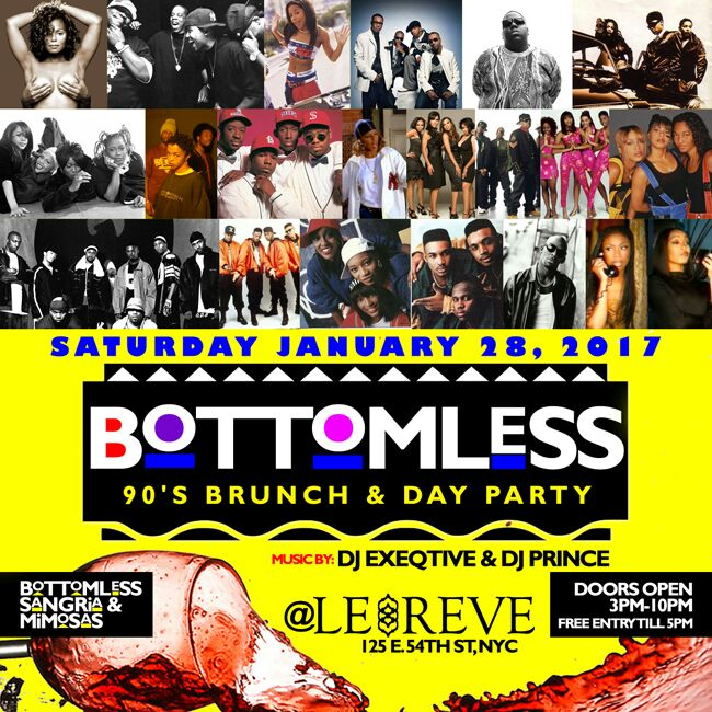Tickets For Bottomless 90's Brunch & Day Party At Lereve