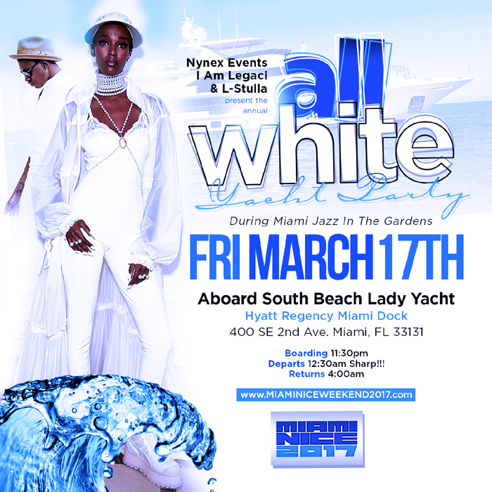 Miami Nice 2017 Annual All White Yacht Party To Start Jazz