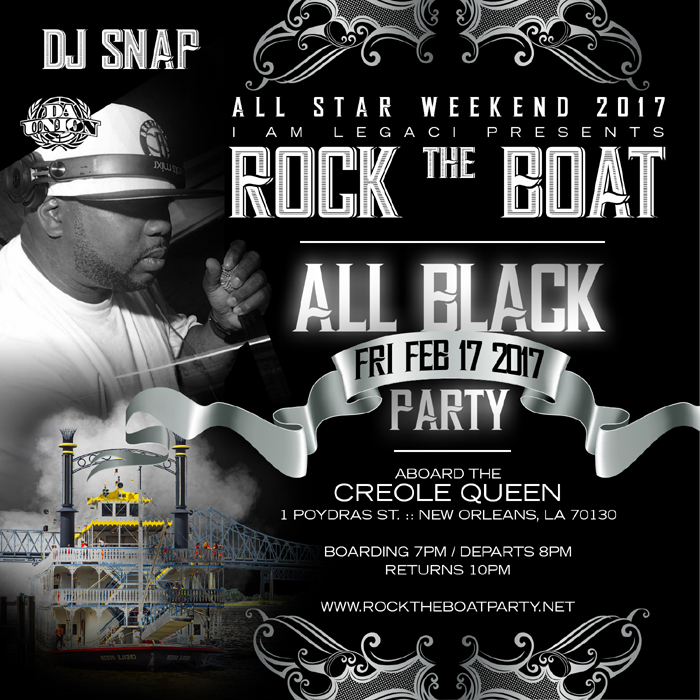 All Black Boat Ride Party All Star Weekend 2017
