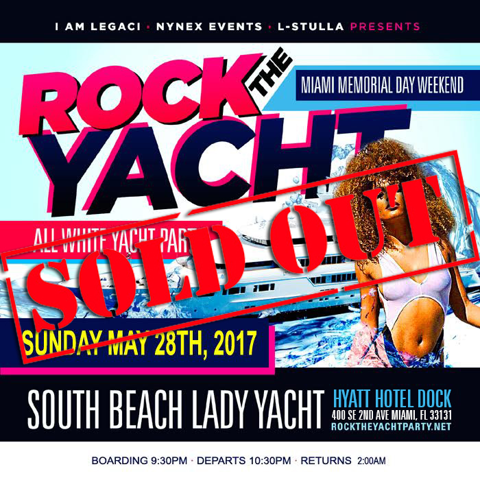 rock the yacht 2017 miami memorial day weekend all white yacht party tickets sun may 28 2017. Black Bedroom Furniture Sets. Home Design Ideas