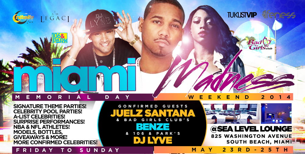 miami madness 2014 memorial day weekend party pass www miamimadness2014 com tickets south beach. Black Bedroom Furniture Sets. Home Design Ideas