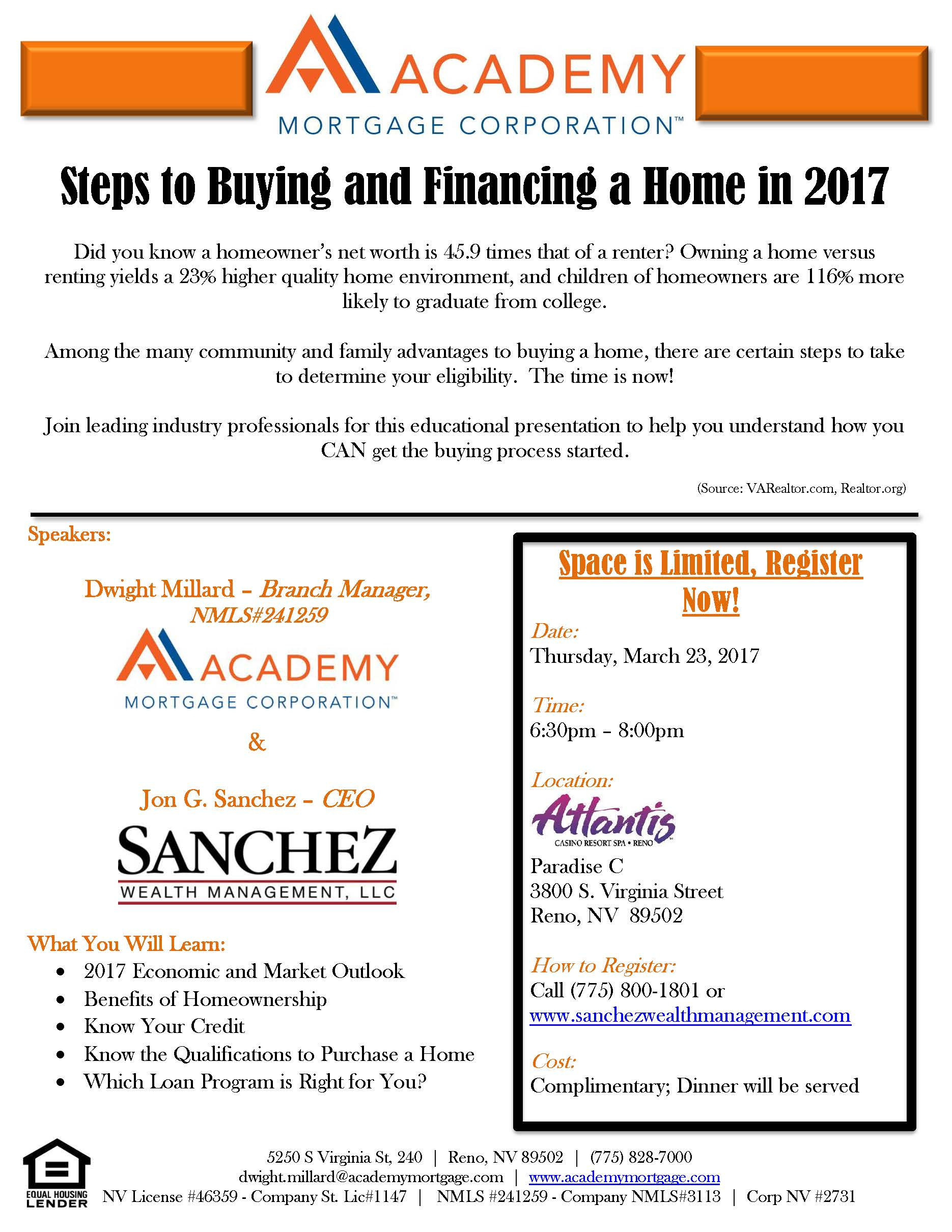 steps to ing and financing a home in 2017 tickets thu mar 23