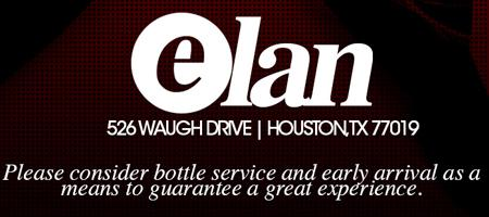 ELAN SATURDAYS @ ELAN LOUNGE IN RIVER OAKS call 832-800-3566 FOR...