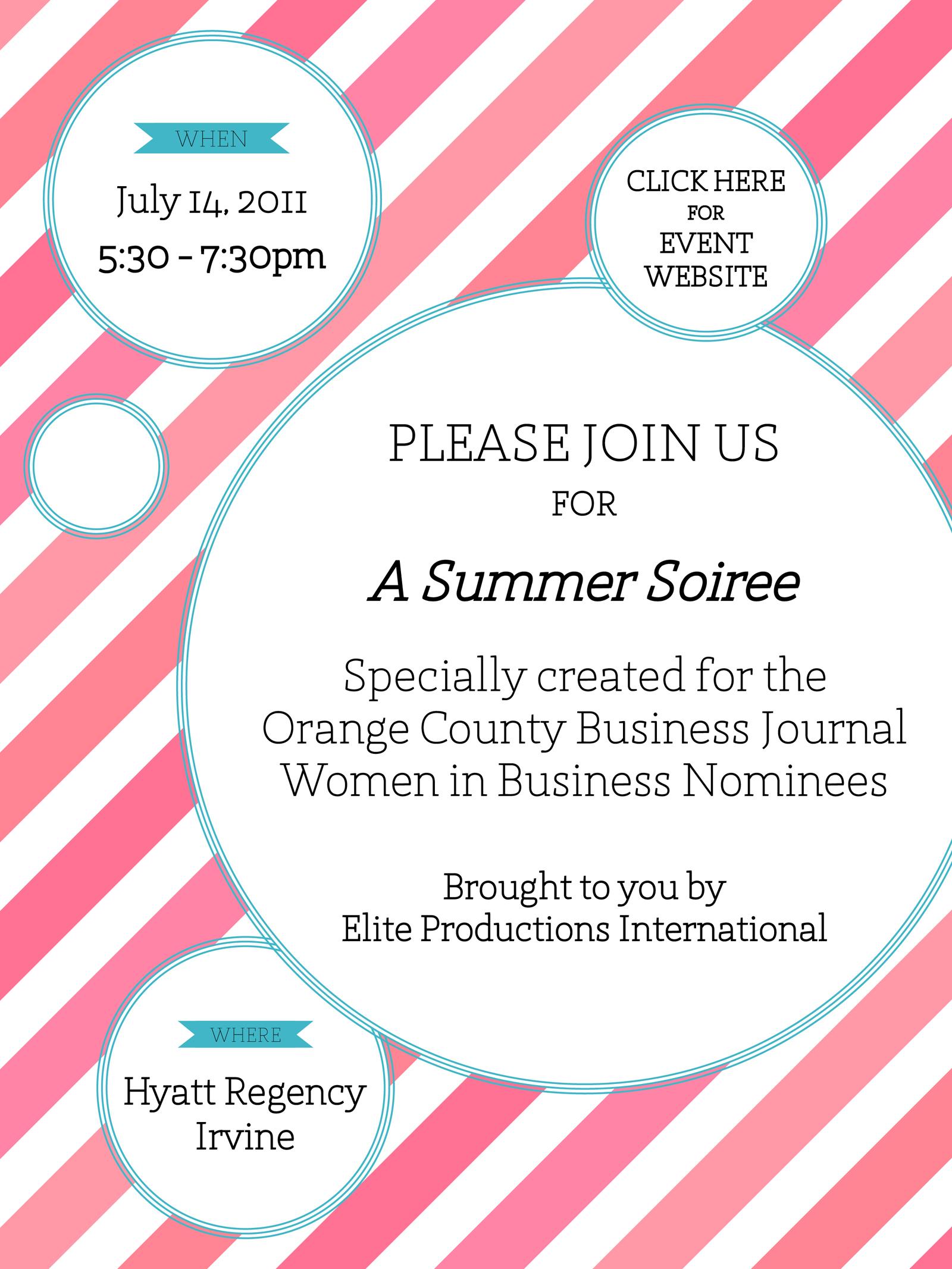Invitation to Elite Women of Orange County Event