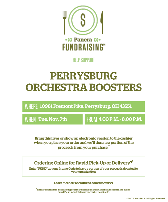 Panera Fundraiser Flyer Nov 7