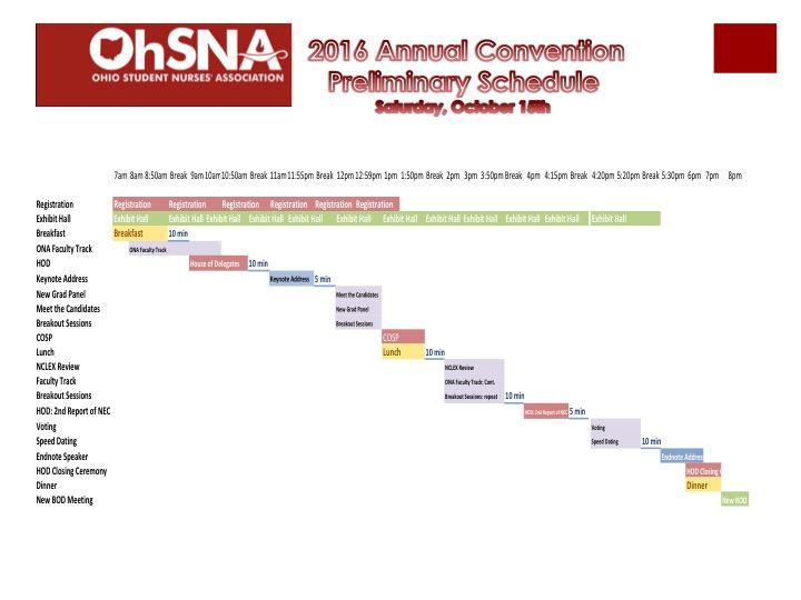 Saturday, October 15h, Preliminary Schedule