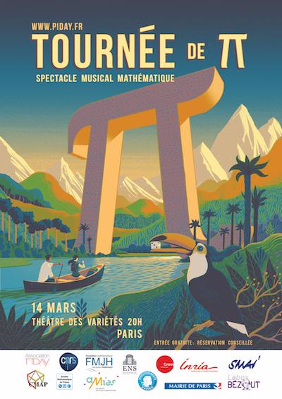 Affiche Tournée de π - Paris