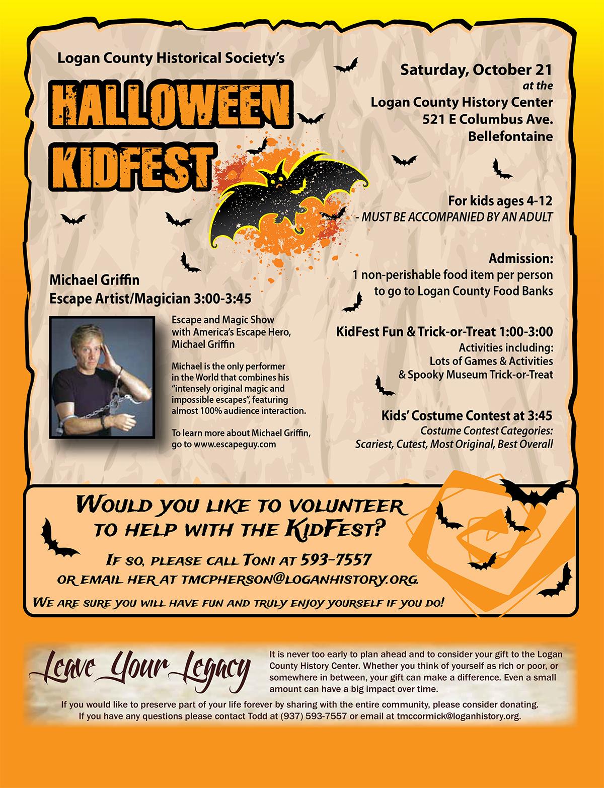 Halloween Kidfest with Michael Griffin Escape Artist