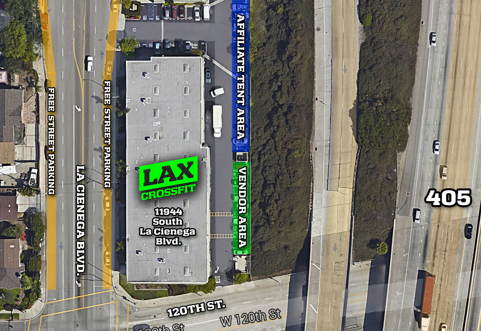 LAX CrossFit Double Trouble Area Map
