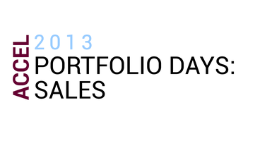 Accel Portfolio Days: Sales
