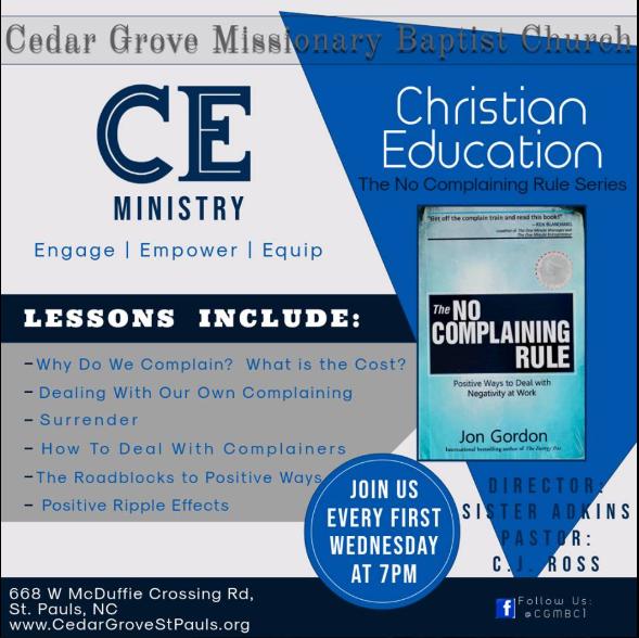 Cedar Grove MBC CEP