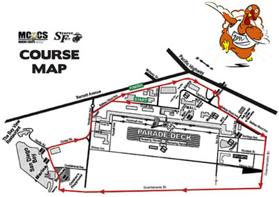 MCCS MCRD San Diego, Semper Fit Turkey Trot 2011 Course Map