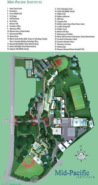 Mid-Pacific Institute Map