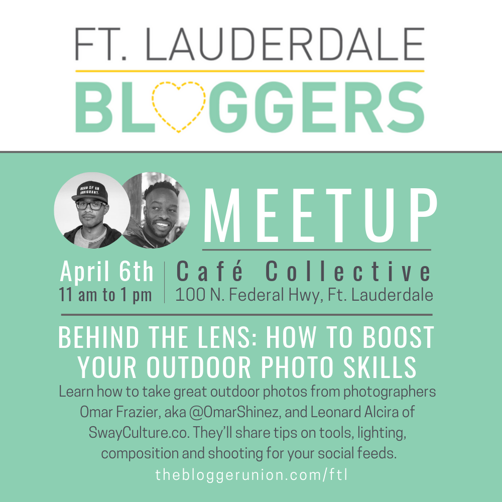 Blogger Meetup on Outdoor Photography for Bloggers