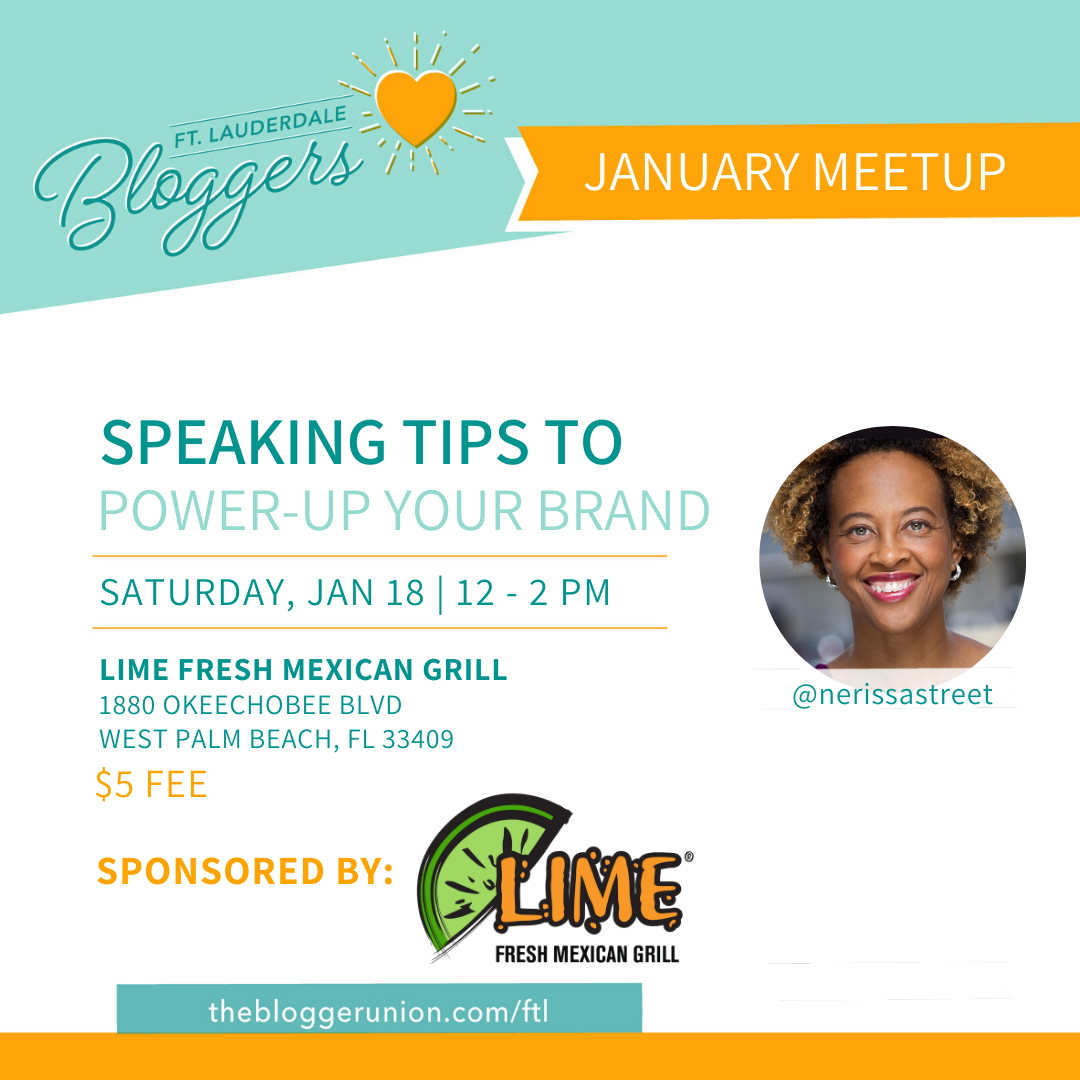 Meetup on Speaking for Bloggers