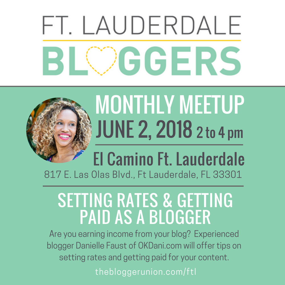 June Blogger Meetup on Setting Rates and Blog Income.