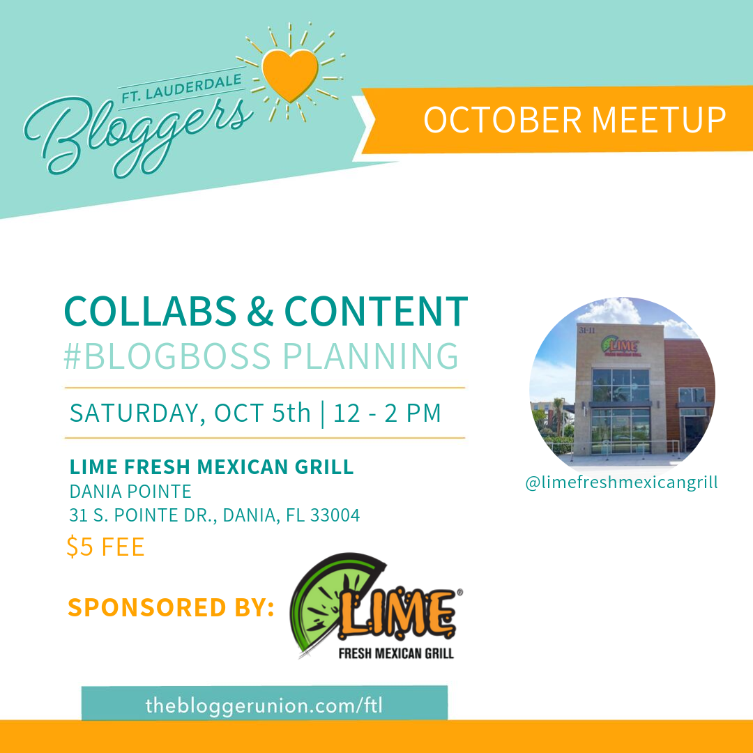 Blogger Content Planning meetup in Ft Lauderdale