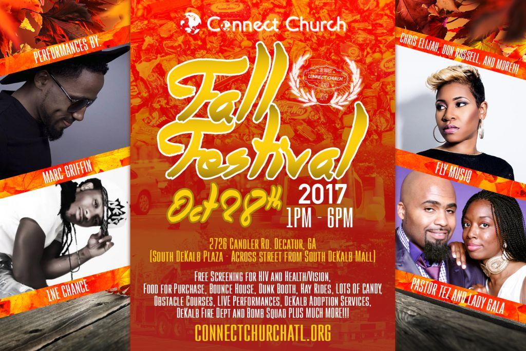 Connect Fall Festival 2017, Oct 28, 1p-6p, S. DeKalb Plaza