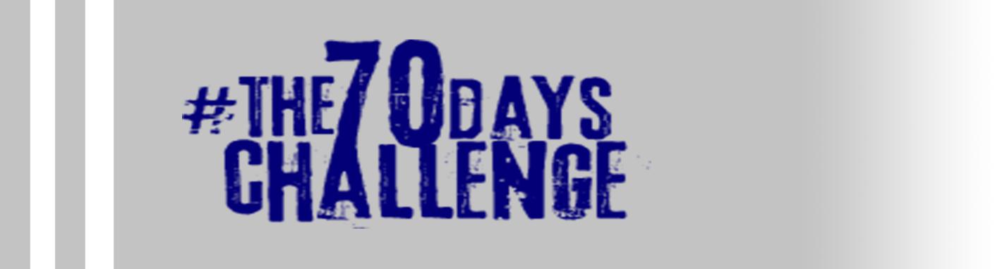 The 70 days Challenge