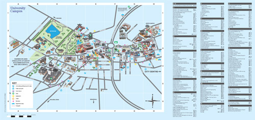 University of Sheffield Campus Map