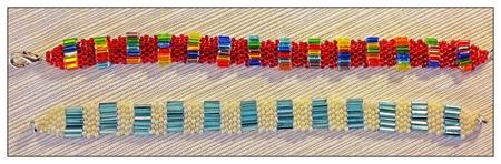Make a Brick Stitch Seed Bead Bracelet