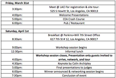 LA Agritecture Workshop Schedule LACI