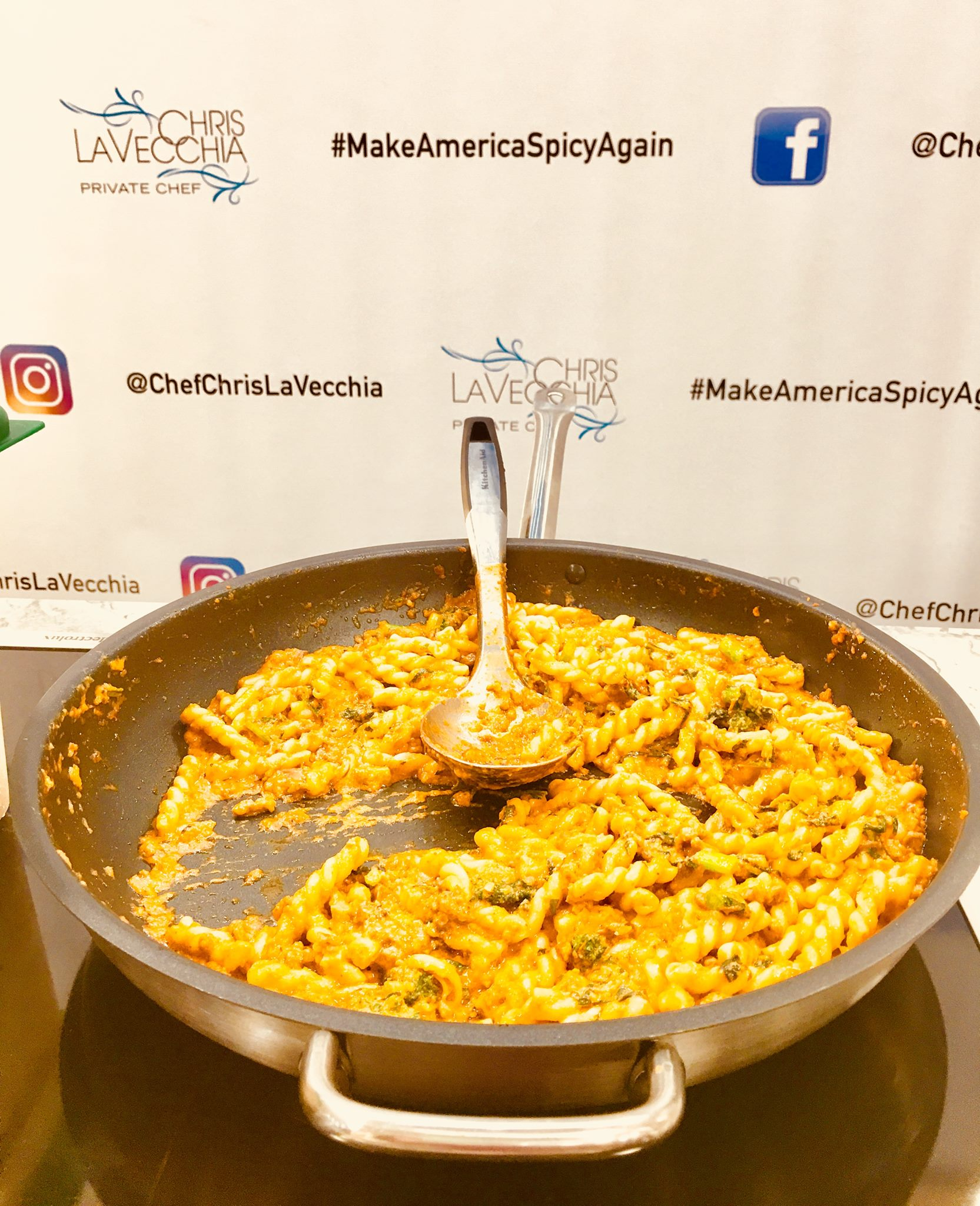 Private CHef Chris LaVecchia Pasta Dish