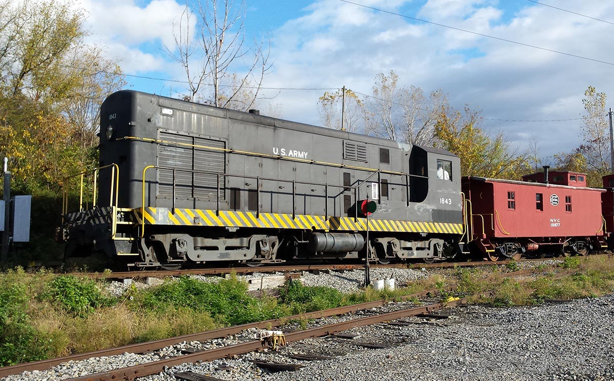 Fairbanks Morse Diesel and Caboose